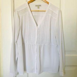 Dana Buchman boho blouse